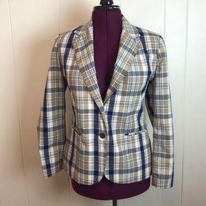 Vintage 70s/80s 2 Button Plaid Career Blazer